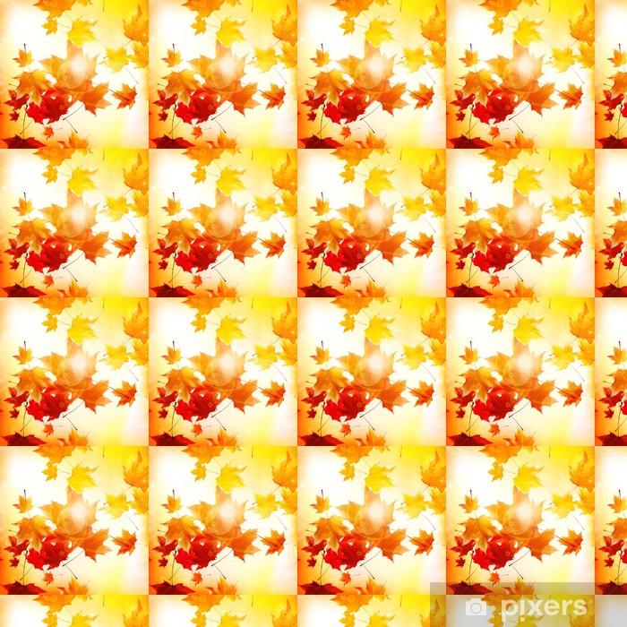 Vinylová tapeta na míru Delikátní podzimní slunce s pohledem na zlaté obloze. - Mír