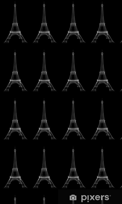 Tapeta na wymiar winylowa Renderowania 3D Wieża Eiffla - Miasta europejskie