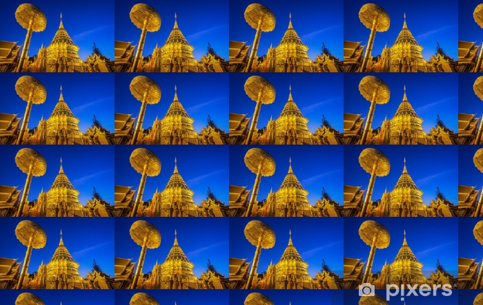 Wat phra että doi suthep Räätälöity vinyylitapetti - Uskonto
