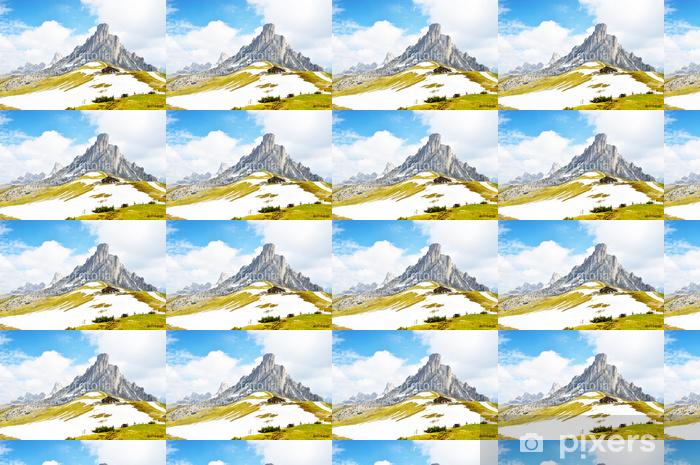 Tapeta na wymiar winylowa Włoski Dolomiti - ładny widok panoramiczny wysokich górach - Góry