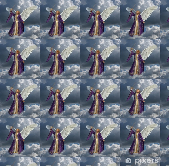 Vinylová tapeta na míru Archanděl Michael - verze bez zářivé nebe efektu - Témata