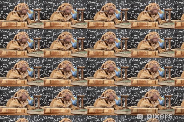 Papier peint vinyle sur mesure Mastiff chiot français mâcher un crayon - Mammifères