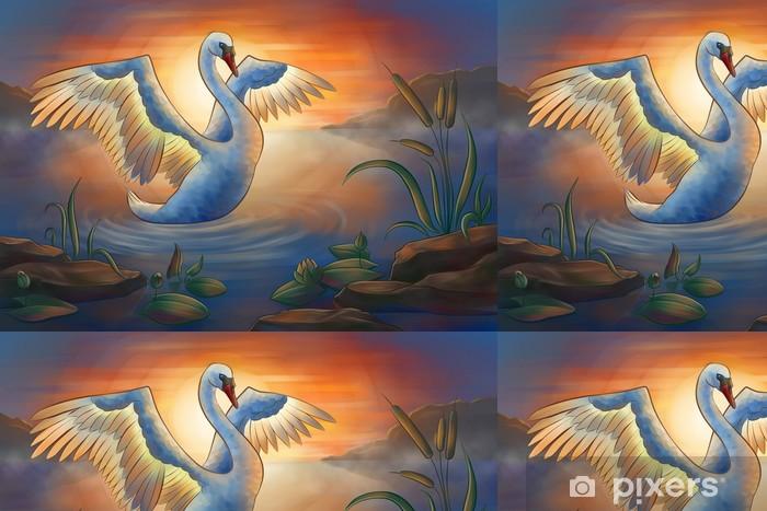 swan on the pond Vinyl Wallpaper - Birds