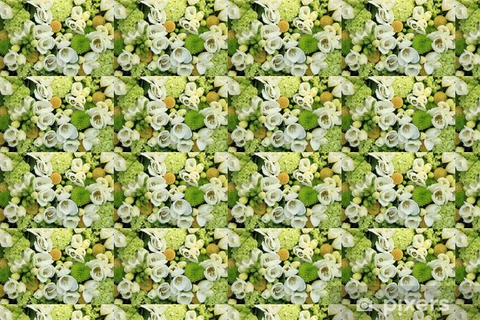 Papier peint vinyle sur mesure Fleurs de mariage blanc - Célébrations