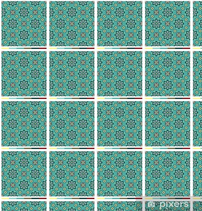 Vinyltapete nach Maß Nahtlose Tapetenmuster - Blumenserie - Kunst und Gestaltung