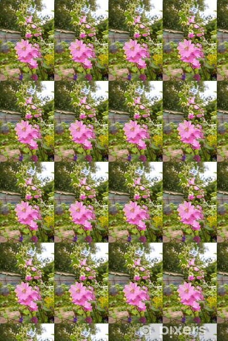 Tapeta na wymiar winylowa Różowe malwy flowerrs - Kwiaty