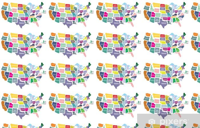 Bundesstaaten Usa Karte.Tapete Usa Karte Mit Bundesstaaten Nach Maß