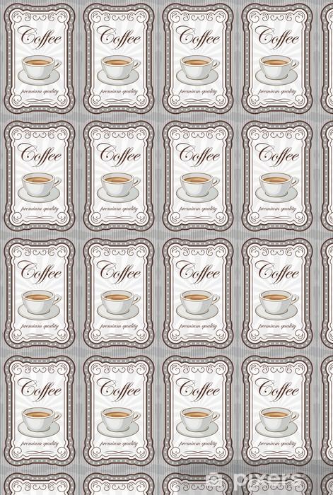 Tapeta na wymiar winylowa Vintage plakat kawy. ilustracji wektorowych - Gorące napoje