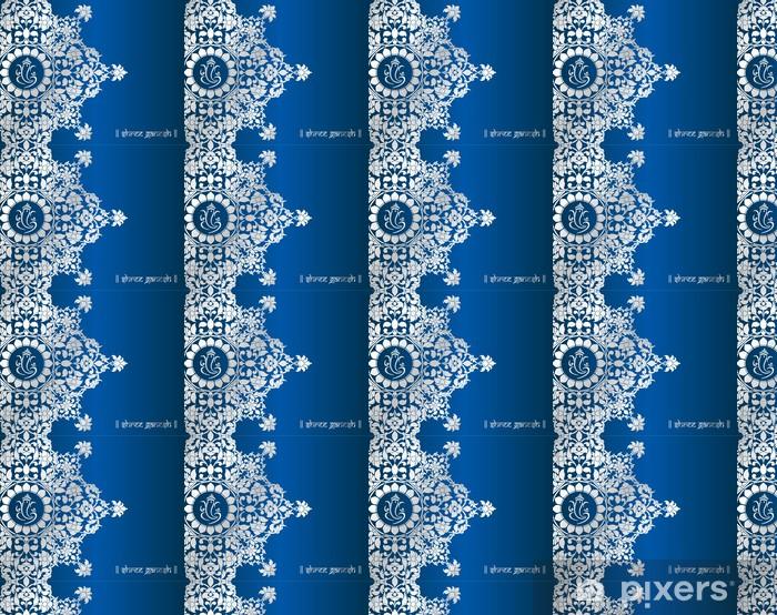 Vinyl behang, op maat gemaakt Trouwkaart ontwerp, paisley bloemmotief, India - Viering