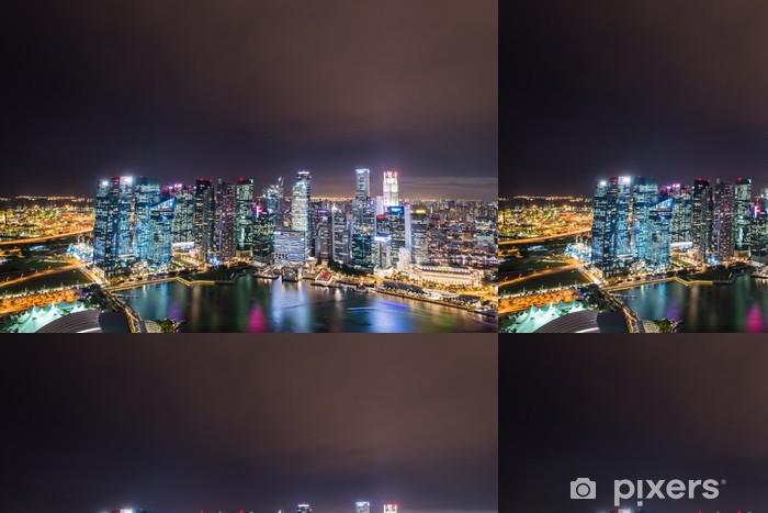 Vinylová Tapeta Panorama Singapuru panorama centra - Jiné