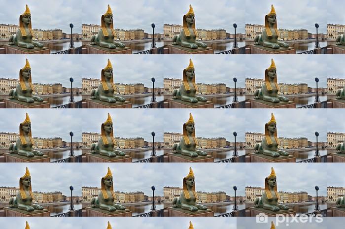 Papier peint vinyle sur mesure Санкт-Петербург, Фонтанка, Сфинкс на Египетском мосту - Europe