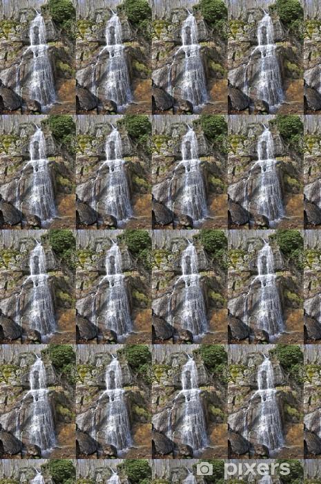 Papier peint vinyle sur mesure Wasserfall im Odenwald (Hessen) - Montagne