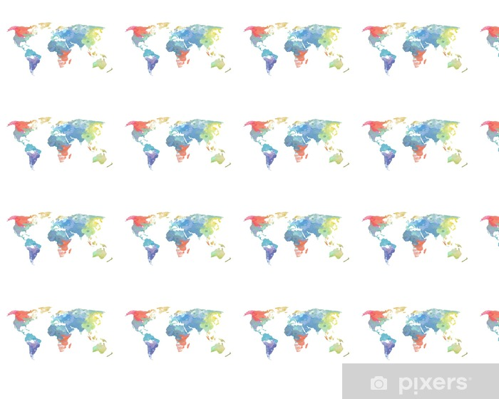 Watercolor World Map Poster Wallpaper Pixers We Live To Change
