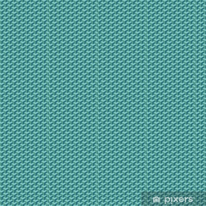 Light blue geometric pattern Vinyl custom-made wallpaper - Mammals