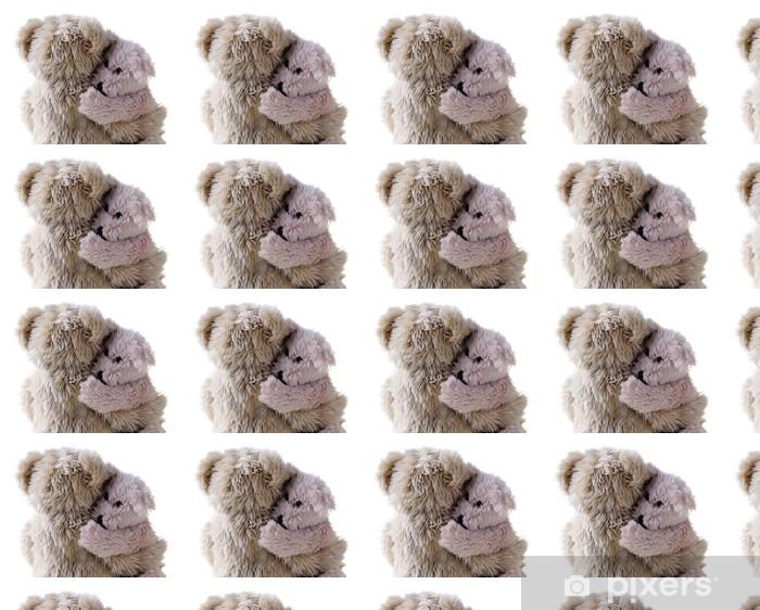 Tapeta na wymiar winylowa Duża Teddy bear mniejszy, na białym tle - Gry