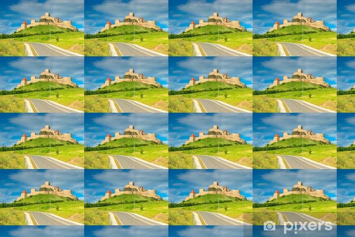 Tapeta na wymiar winylowa Twierdza Rupea, fortyfikacje na wzgórzu, Brasov, Rumunia, Europa - Budynki użyteczności publicznej