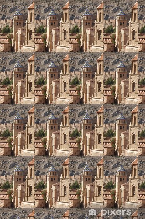 Vinyltapete nach Maß Malerische Stadt in Spanien. Kathedrale und der alten Festung. Albar - Europa