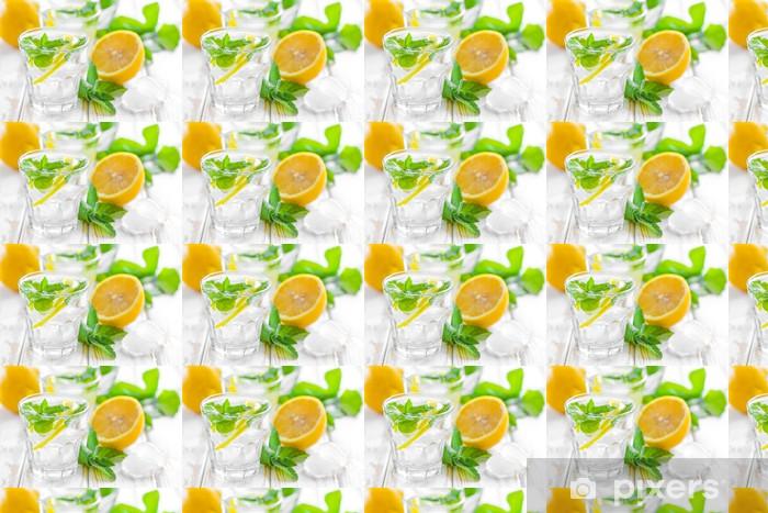 Papier peint vinyle sur mesure Boivent de citron - Eau minérale et sodas