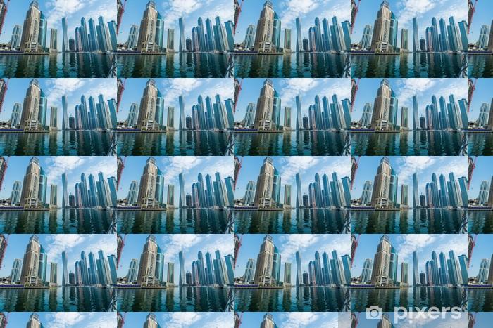 Tapeta na wymiar winylowa Wysokie wieżowce Dubai Marina w Zjednoczonych Emiratach Arabskich - Inne