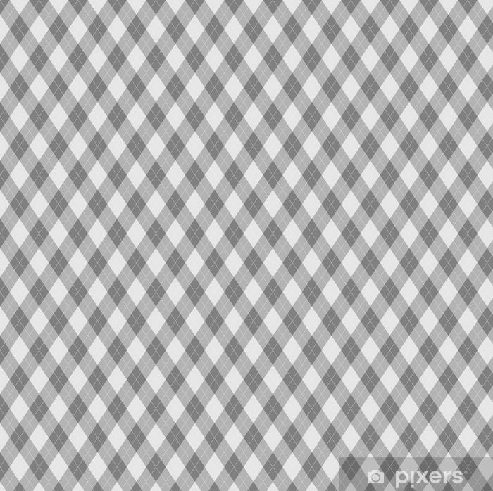 Vinyl behang, op maat gemaakt Naadloze argyle patroon. diamant vormt achtergrond. - Grafische Bronnen