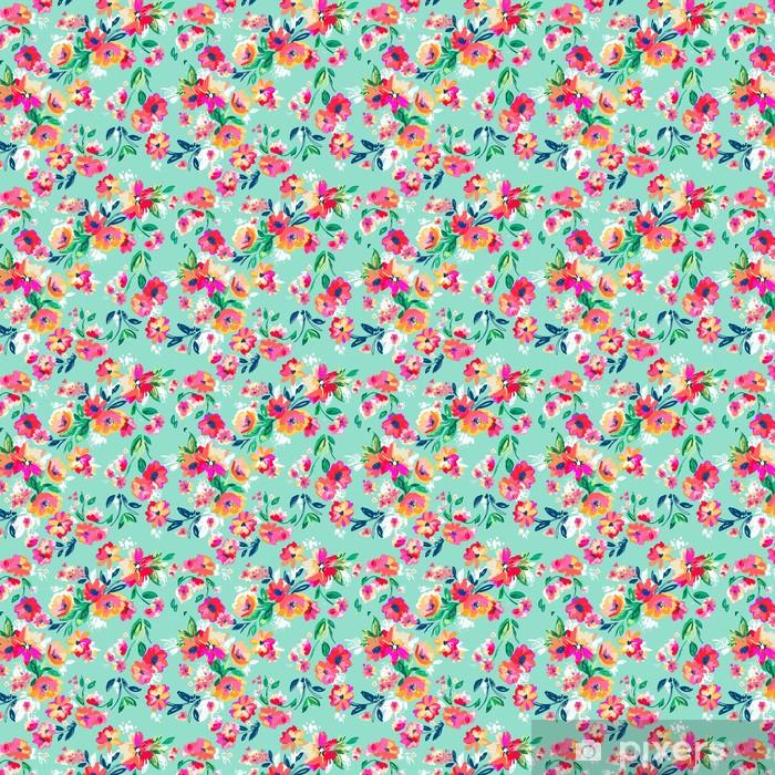Tapeta na wymiar winylowa Całkiem malowane kwiaty ~ bezszwowe tło - Do sypialni