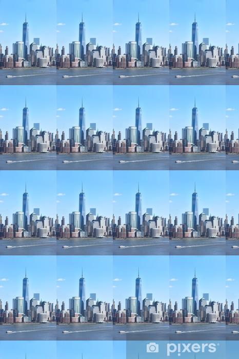 Carta da parati in vinile su misura New York City Skyline di Manhattan - Città Americane
