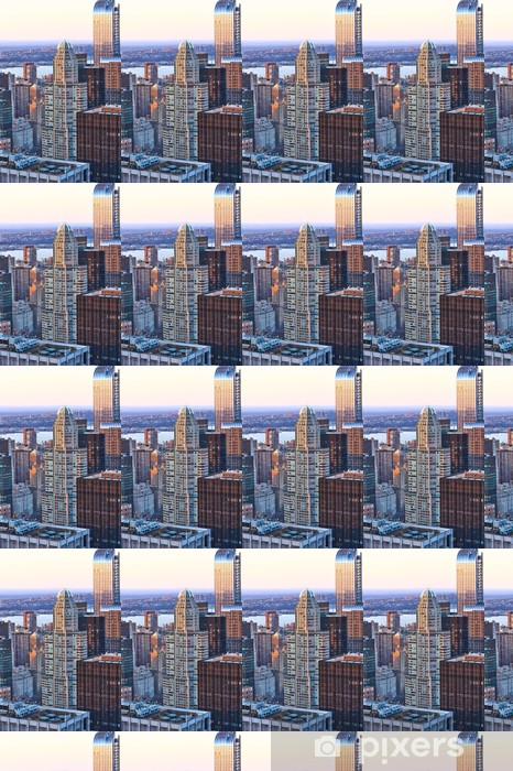 Tapeta na wymiar winylowa Pejzaż Widok na Manhattan o zachodzie słońca - Miasta amerykańskie