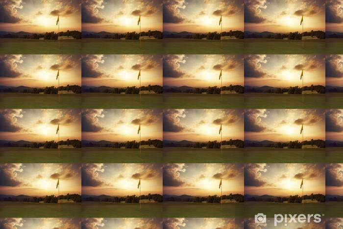 Vinylová tapeta na míru Horské slunce na golfovém hřišti - Golf