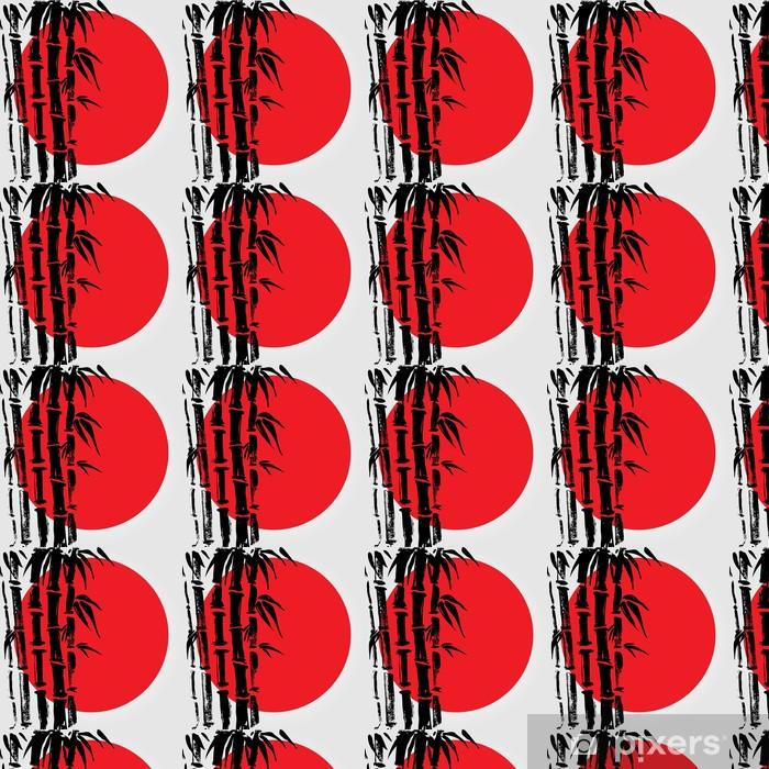 Vinylová tapeta na míru Bamboo v čínském stylu. - Rostliny