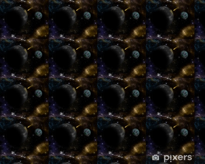 3D space background Vinyl custom-made wallpaper - Outer Space