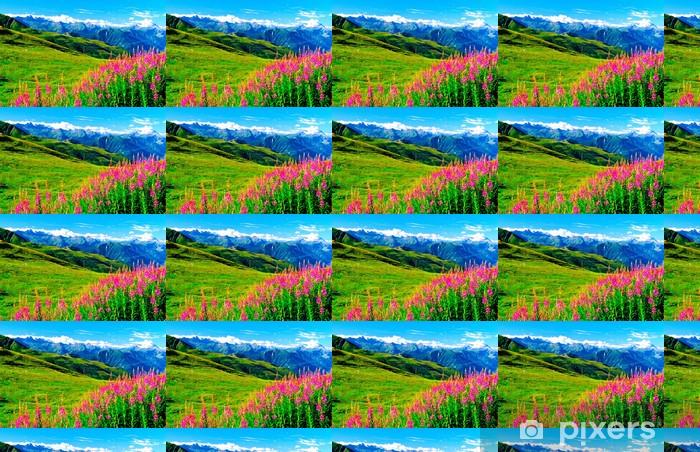 Tapeta na wymiar winylowa Kwiaty górskie - Wakacje