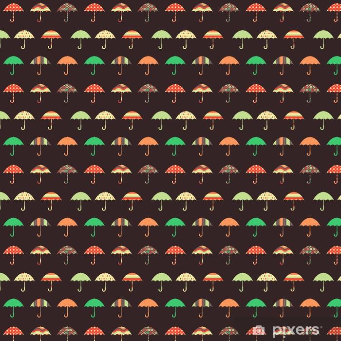 Vinyltapete nach Maß Hübsche Regenschirme Seamless Pattern - Jahreszeiten