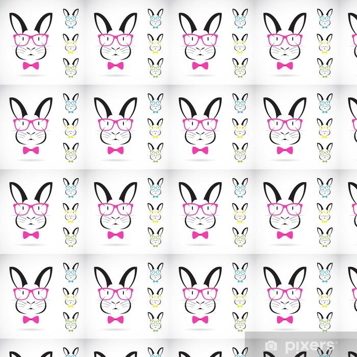 Papier peint vinyle sur mesure L'image de vecteur d'un lapin porter des lunettes - Mode