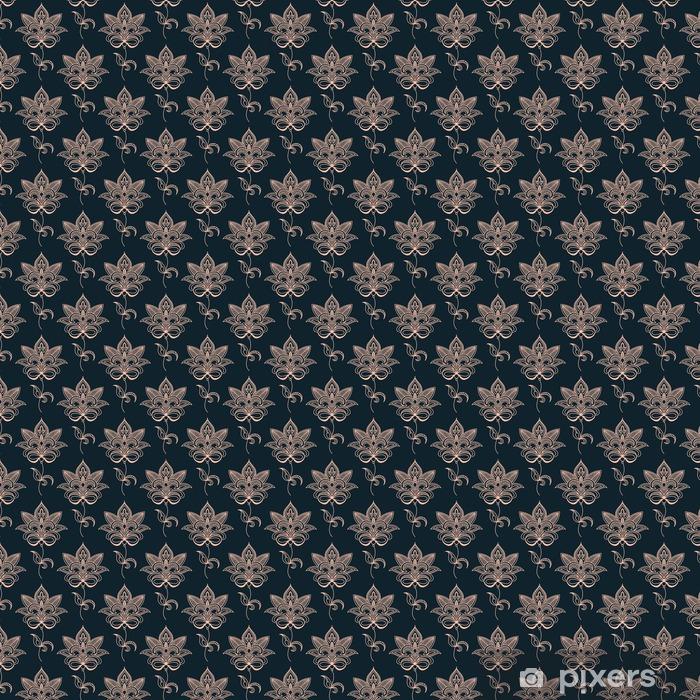 Papel pintado estándar a medida Paisley rosada patrón floral transparente - Recursos gráficos