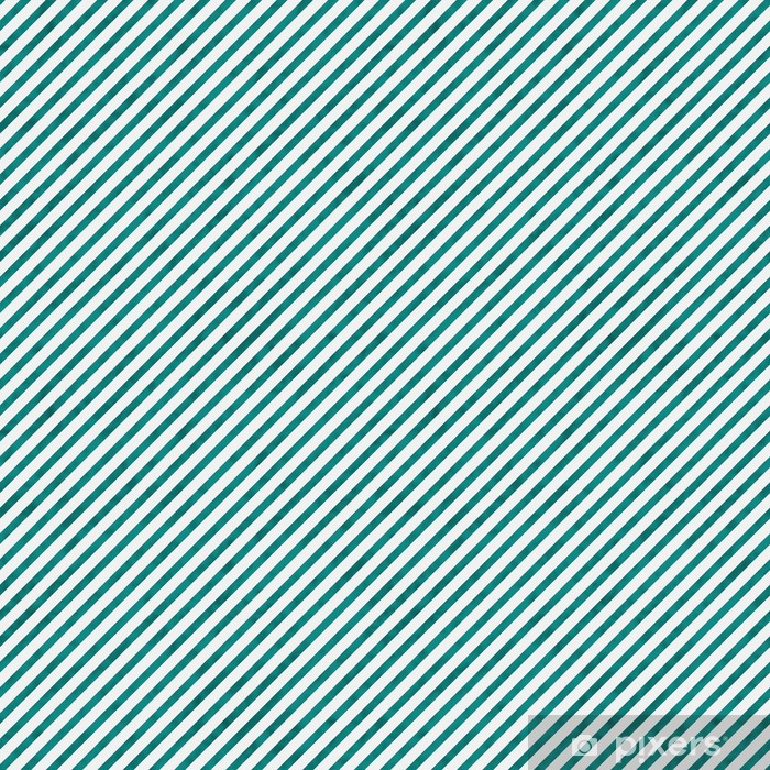 Bright Teal and White Striped Pattern Repeat Background Vinyl custom-made wallpaper - Destinations