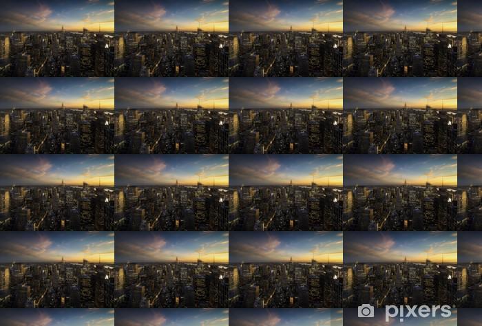 Papier peint vinyle sur mesure Manhattan au coucher du soleil, New York - New York