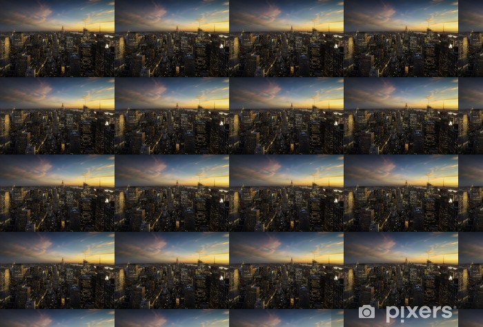 Vinyltapete nach Maß Manhattan Skyline bei Sonnenuntergang, New York - New York