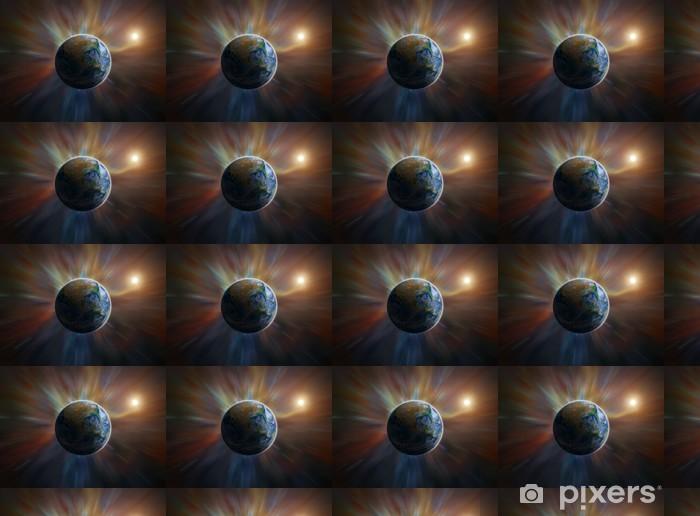 Vinylová tapeta na míru Země v pokřivené prostoru - Meziplanetární prostor