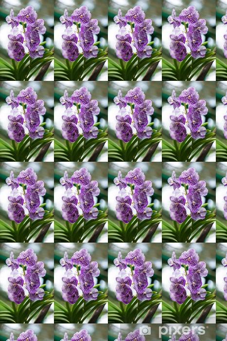 Vinyltapete nach Maß Bunte Orchideen Blumen auf hellen Sommertag - Blumen