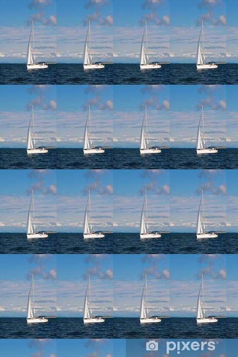 Tapeta na wymiar winylowa Jacht rekreacyjny na Adriatyku - Transport wodny