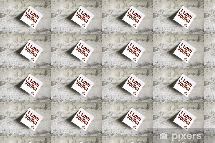 Tapeta na wymiar winylowa Kocham wódkę na papierze z teksturą tle notatki - Tła