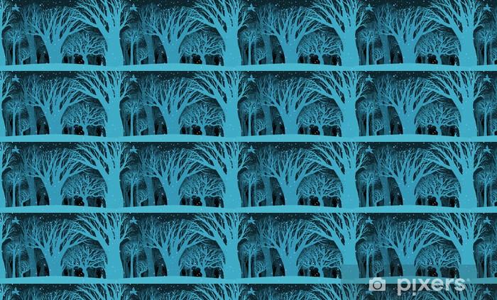 Papier peint vinyle sur mesure L'image de fond de la nuit mystérieuse des fores d'hiver - Saisons