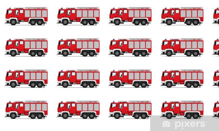 Papier peint vinyle sur mesure Camion incendie et de secours - Sur la route