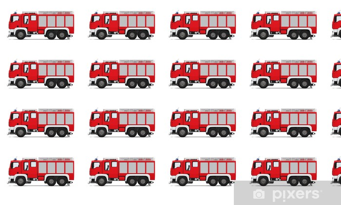 Fire Rescue Truck Vinyl custom-made wallpaper - On the Road