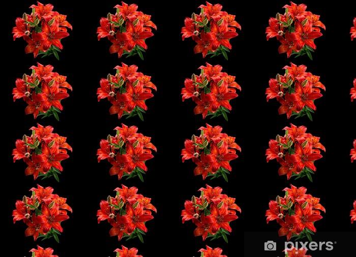 Papier peint vinyle sur mesure Red Lilly Fleur - Fleurs