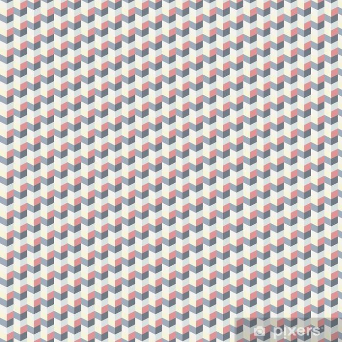 Vinyl behang, op maat gemaakt Abstract retro geometrisch patroon - Achtergrond