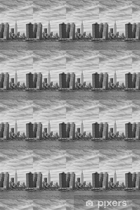Papier peint vinyle sur mesure New York Manhattan vue depuis l'East River - Thèmes
