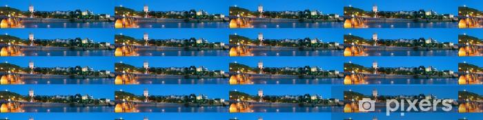Tapeta na wymiar winylowa Panorama Angers w nocy - Europa