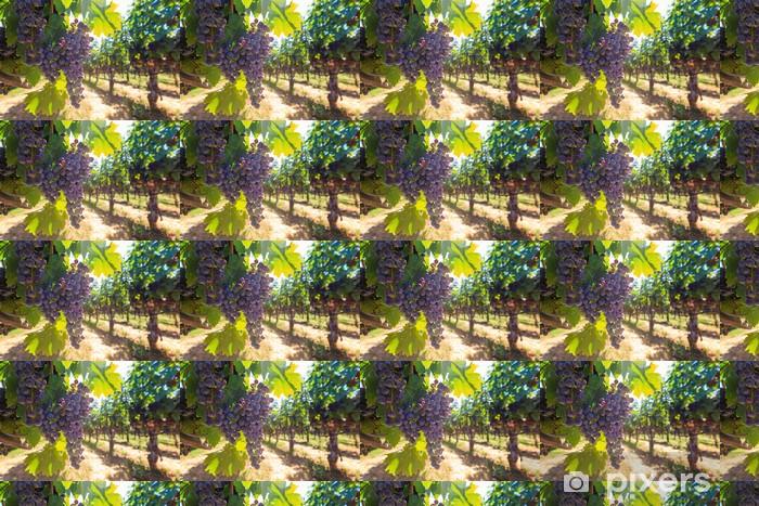 Vinyltapete nach Maß Trauben von roten Weintrauben hanging around - Jahreszeiten