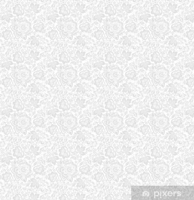 Papier peint vinyle sur mesure Vecteur de fond transparente floral - Styles